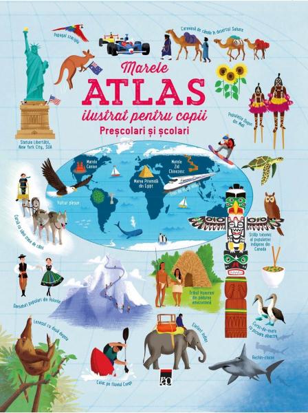 Marele atlas ilustrat pentru copii de Usborne 0