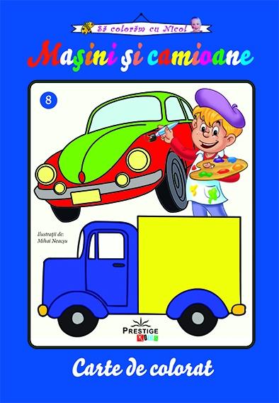 Masini si camioane - carte de colorat 0