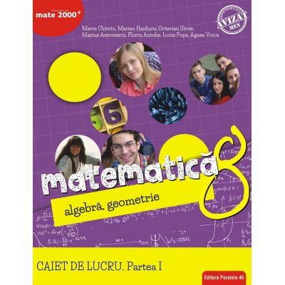 Matematica. Algebra, geometrie. Caiet de lucru. Clasa a 8-a. Consolidare. Partea I 0
