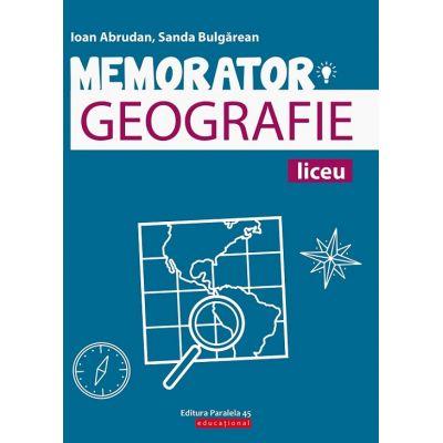 Memorator de geografie pentru liceu de Sanda Bulgarean 0