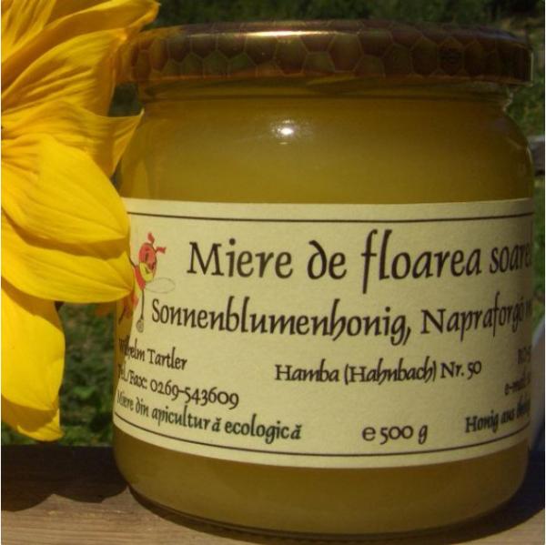 Miere de floarea soarelui ecologica 500g 0