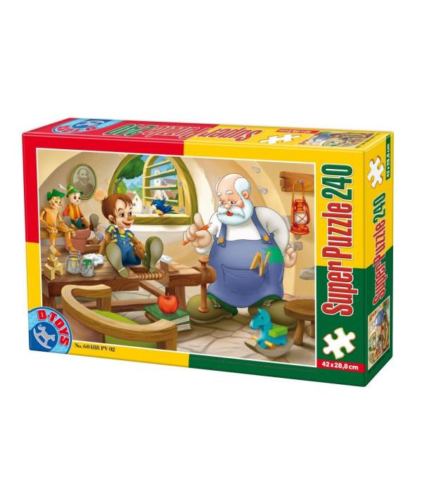 Super Puzzle Pinocchio 240 Piese D-TOYS [0]