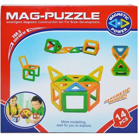 Joc de constructii magnetic Mag-Puzzle 14 piese [0]