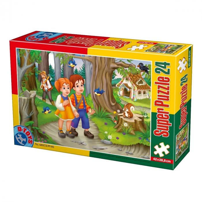 Super Puzzle Hansel si Gretel 24 Piese D-TOYS [0]