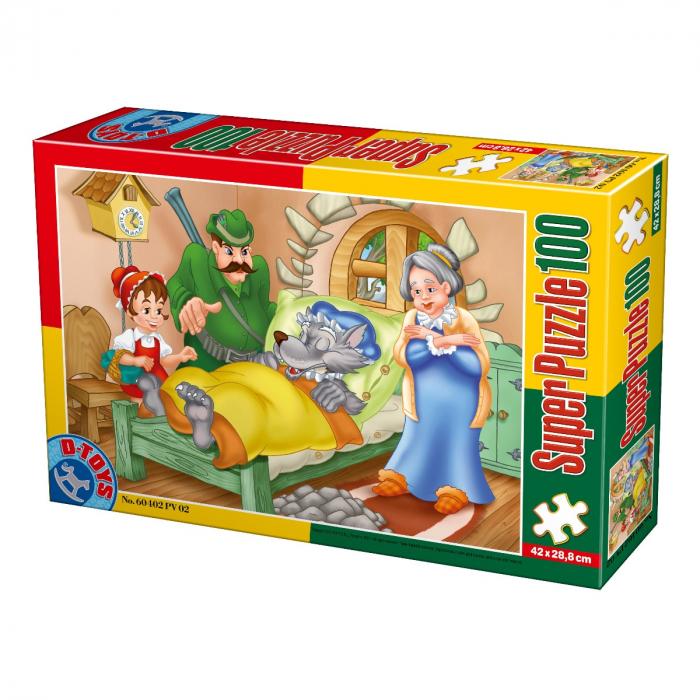 Super Puzzle Scufita Rosie 100 Piese D-TOYS [0]