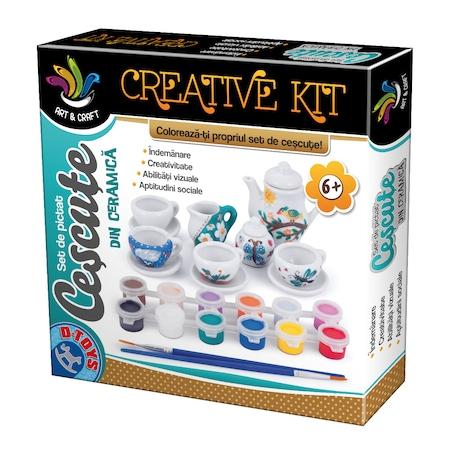 Creative Kit Set de Pictat Cescute din Ceramica D-TOYS [0]