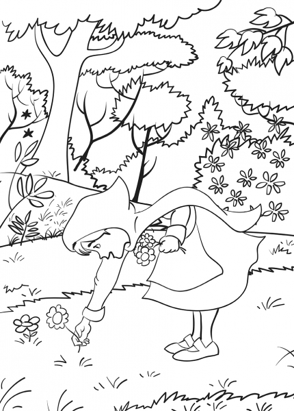 Scufita Rosie - carte de colorat 1
