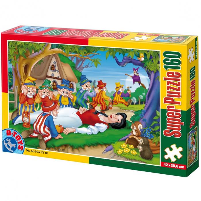 Super Puzzle Alba ca Zapada 160 Piese D-TOYS [0]