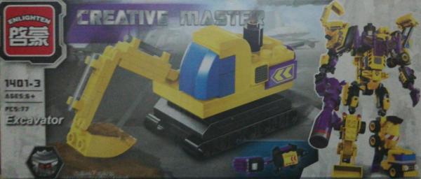 Creative master Excavator. Set lego utilaje de constructie [0]