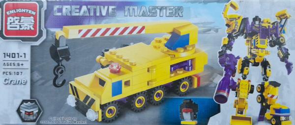 Creative master Crane. Set lego utilaje de constructie [0]