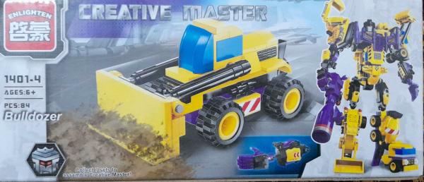 Creative master Bulldozer. Set lego utilaje de constructie [0]