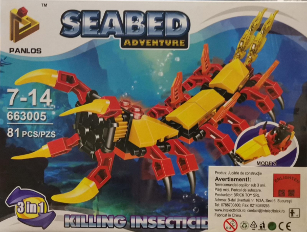 Seabed Adventure Killing Insecticide. Set lego creaturi subacvatice [0]