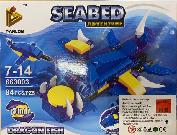Seabed Adventure Dragon Fish. Set lego creaturi subacvatice [0]