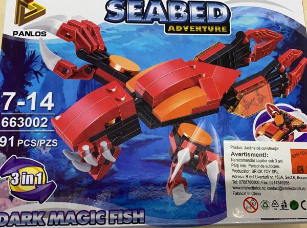 Seabed Adventure Dark Magic Fish  Set lego creaturi subacvatice [0]