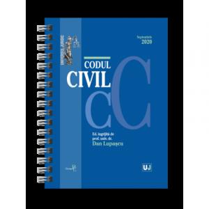 Codul civil Septembrie 2020. EDITIE SPIRALATA, tiparita pe hartie alba