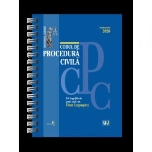 Codul de procedura civila Septembrie 2020. EDITIE SPIRALATA, tiparita pe hartie alba