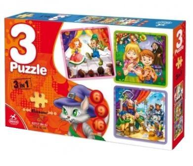 Set 3 Puzzle Basme 6, 9, 16 Piese #76540