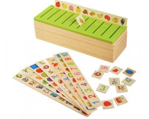 Joc lemn clasificare obiecte