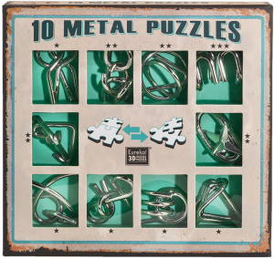 10 metal puzzle green0