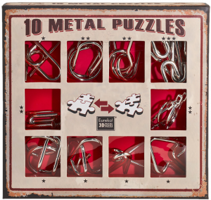 10 metal puzzles Red0