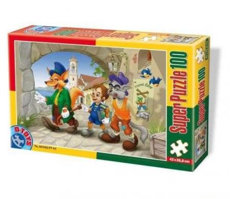 Super Puzzle Pinocchio 100 piese #60402