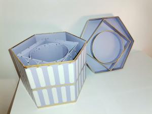 Set 3 cutii mov cu dungi albe [1]