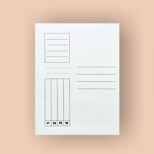 Dosar carton simplu alb