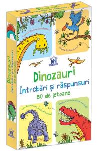 Dinozauri. Intrebari si raspunsuri. 50 de jetoane