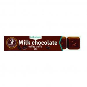 Ciocolata cu lapte si trufe de cafea