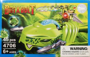 Brixbolt: Snake. Set lego luptatori galactici