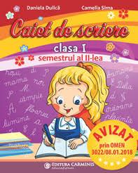 CAIET DE SCRIERE. CLASA I. SEMESTRUL 2 (PENTRU NOUL MANUAL PI.)0