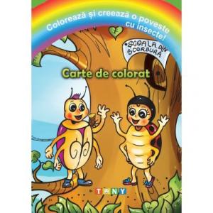 Coloreaza si creeaza o poveste cu insecte!