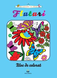 Fluturi - carte de colorat
