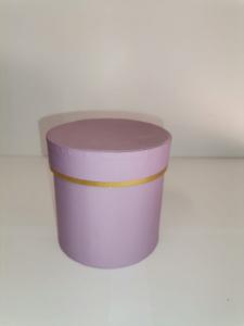Cutie Carton Rotunda cu Dunga Aurie -  LILA