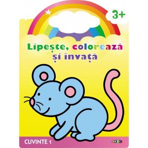 Lipeste, coloreaza si invata. Cuvinte 1. Soricelul