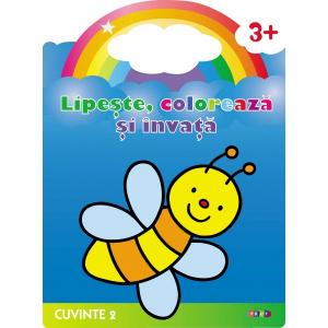 Lipeste, coloreaza si invata. Cuvinte 2. Albinuta