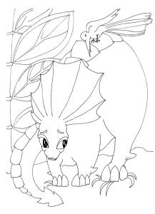 Dinozauri jucausi - carte de colorat1