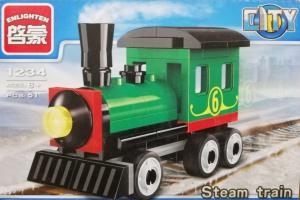 Enlighten City Tren cu aburi lego