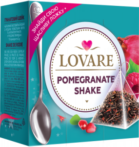 Pomegranate Shake Amestec de ceai negru, fructe de zmeura si petale de sofranel