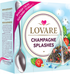 Splashes Of Champagne Amestec de ceai negru, ceai verde, fructe si petale de flori