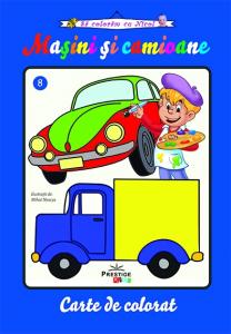 Masini si camioane - carte de colorat