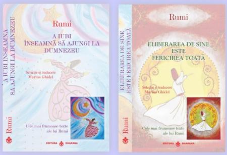 Pachet 2 carti - Rumi - Cele mai frumoase texte - Selectie si traducere Marius Ghidel