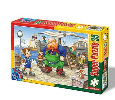 Super Puzzle Pinocchio 35 Piese #60389