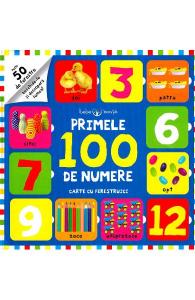 Primele 100 de numere. Carte cu ferestruici