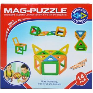 Joc de constructii magnetic Mag-Puzzle 14 piese