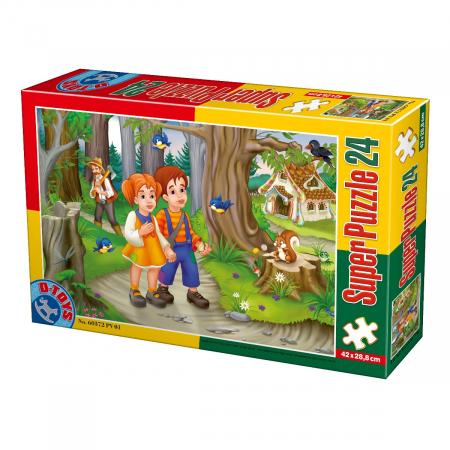 Super Puzzle Hansel si Gretel 24 Piese #60372