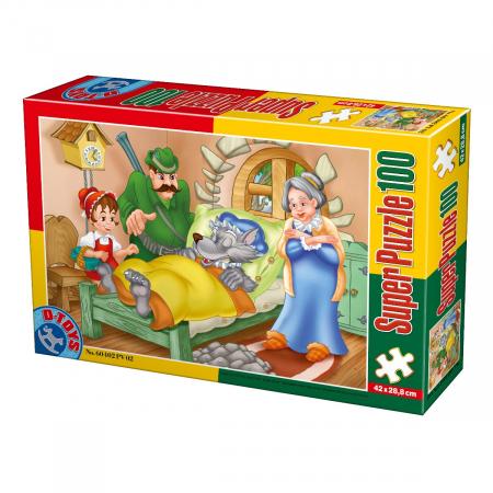 Super Puzzle Scufita Rosie 100 Piese #60402
