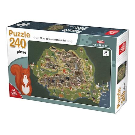Puzzle 240 piese Flora si fauna Romaniei #76366