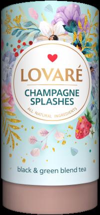 Splashes of champagne Amestec de ceai negru, ceai verde, capsuni și petale de albastrele de la Lovare [0]