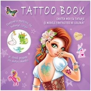 Tattoo Book. Cartea mea cu tatuaje și modele fantastice de colorat